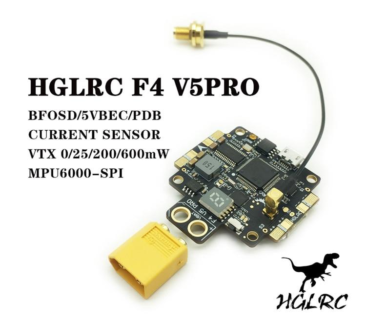 ФОТО F4 V5PRO Flight Controller 5.8G 40CH 0/25/200/600mW Switchable FPV Transmitte w/ 5V BEC OSD PDB For FPV Racing Drone Quadcopter