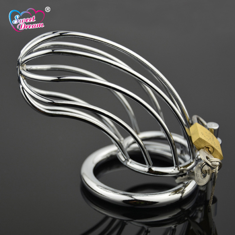 Sweet Dream 40/45/50mm Stainless Steel Penis Ring Male Chastity Device Cock Cage Adult Sex Toys for Men Sex Products LF-107