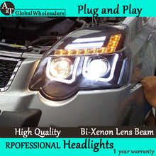 A&T Car Styling for Nissan X-trail LED Headlight 2012-2013 Rouge LED DRL Lens Double Beam H7 HID Xenon Car LED Light