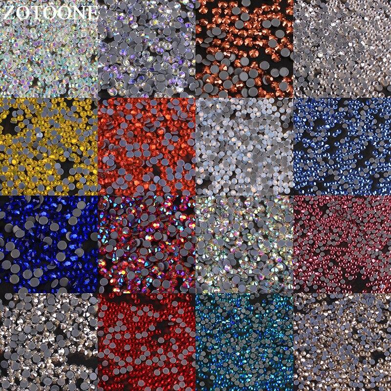 ZOTOONE SS6-SS20 Hotfix de cristal de Arte de uñas de diamantes de imitación para La Ropa Decoración de hierro en las transferencias de Flatback Cristal de strass de imitación E