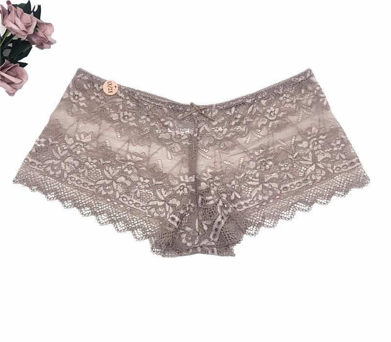 KYRA Big Size Sexy Sheer Lace Panties Women Underwear High-Rise Briefs Transparent Floral Lurex Lace Panty Plus Size XL 2XL 3XL
