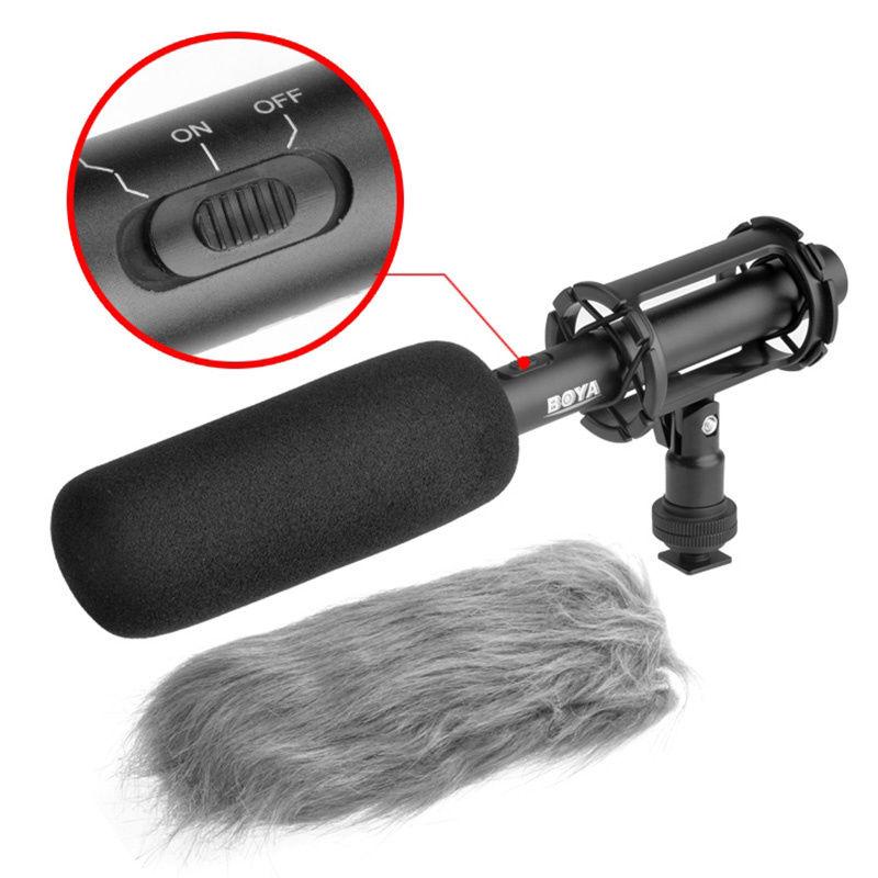 Free shipping!!! BOYA BY-PVM1000 Condenser Shotgun Microphone Interview 3-pin XLR Output on DSLR Camera