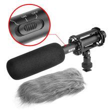 Бесплатная доставка!!! BOYA BY-PVM1000 Shotgun Конденсаторный Микрофон Интервью 3-контактный XLR Выход на Камеры DSLR