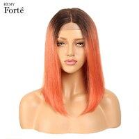 Реми Форте Синтетические волосы на кружеве человеческих волос парики прямо человеческих волос Розовый 99j длинные Bobo человеческих волос пар