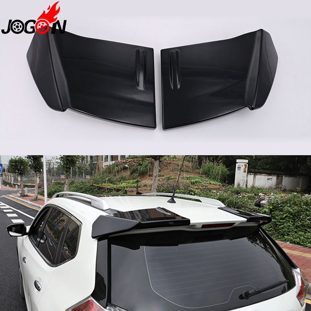 For Nissan X-Trail Rogue T32 2014 2015 2016 2017 Car Trunk Lip Rear Aero Add-on Spoiler Wing Cover Trim Pearl White Gray Black rogue stainless steel rear bumper protector sill trunk guard cover trim for 2014 2016 nissan x trail x trail t32 car accessories