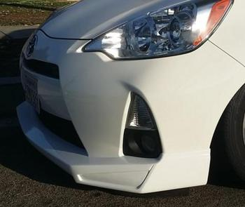 FRP Bibir Depan untuk Toyota Prius C NHP10 Aqua 2011.12 ~ JP Gaya Serat Kaca Bibir Depan Tubuh Kit Tuning hiasan untuk PRIUS C Balap