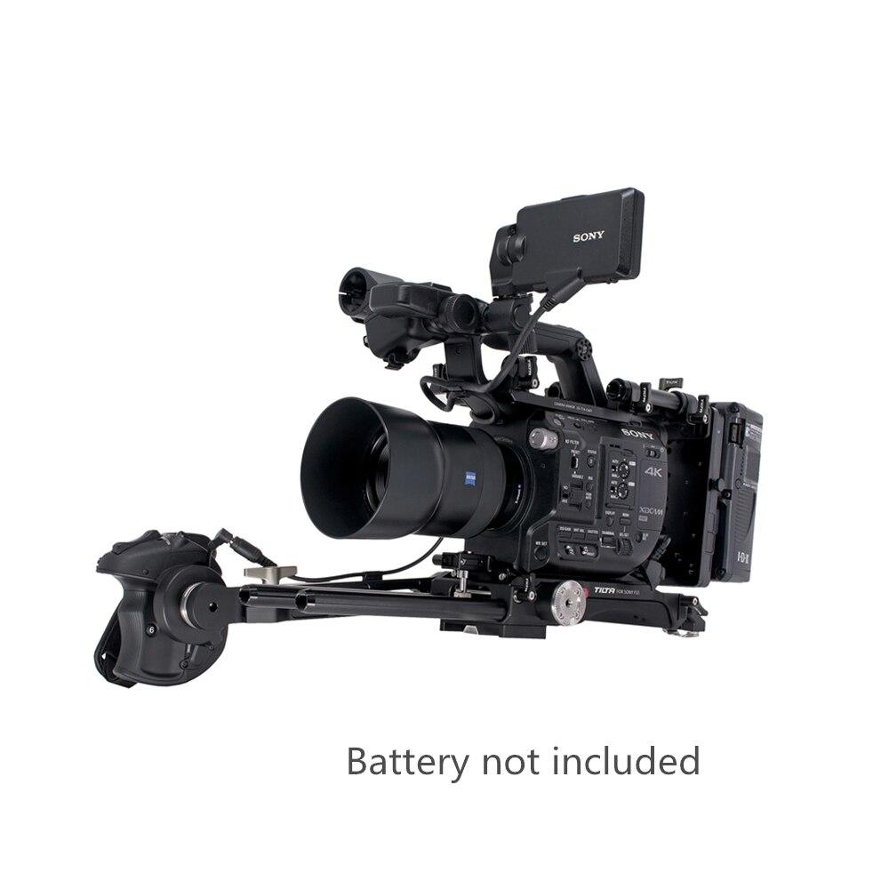 ES-T14A FS5 Kit Rig Rig Camera Quick Release Baseplate Tilta Extensão Do braço V-lock ou Anton Placa de Montagem Para SONY câmera FS5