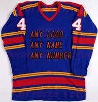 Buy Cheap Custom Hockey Design Wholesale ICE Hockey Jerseys Replica Mens Vintage Jersey Blue XXS 6XL