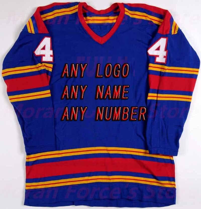 ФОТО Buy Cheap Custom Hockey Design Wholesale ICE Hockey  Jerseys Replica Mens Vintage Jersey blue XXS-6XL Free Shipping