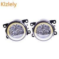 For Renault Laguna 2 Hatchback BG0 BG1 2001 2015 Angel Eye LED Fog Lamp 9CM Daytime
