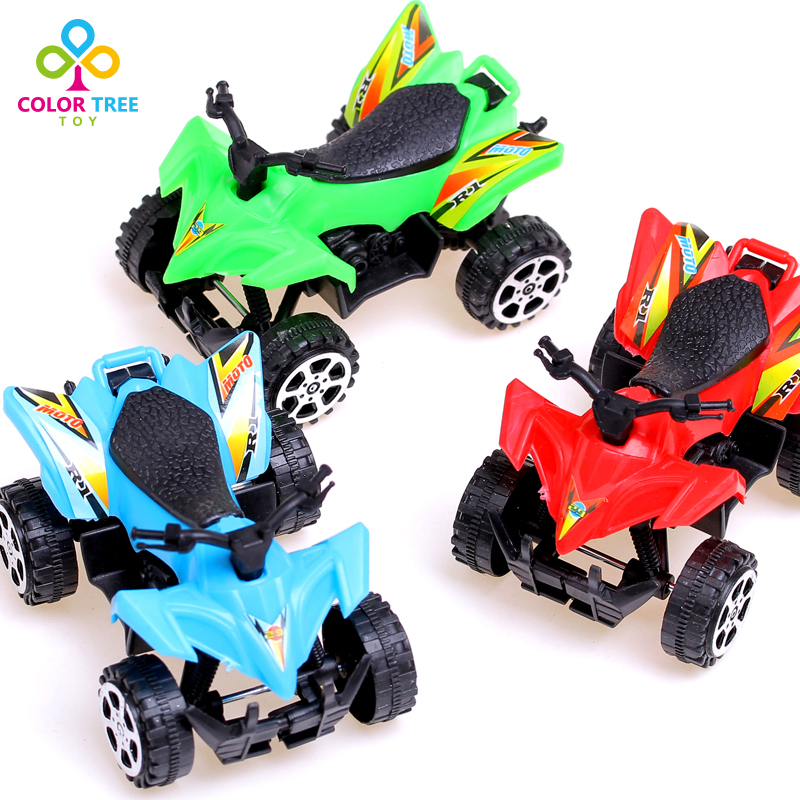 1pc Kids Toy Children's Plastic Toy Car Freewheeling Pull Back Motocross Models Chiristmas Gifts For Boys Wholesale