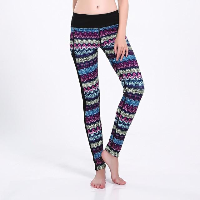 fd052522dd2 JIGERJOGER Plus size XXXL Aztec colorful waves sports pants sportswear girl womens  clothing leggings printed woman YOGA LEGGINGS