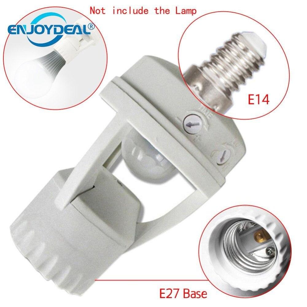 E27 E14 B22 Plug Socket Switch Base LED Screw Light Bulb PIR Infrared Motion Sensor Lamp Switch Socket Holder