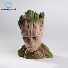 Strongwell Baby Groot Flowerpot Pen Pot Holder Plants Flower Cute Action Figures Toys for Kids Gift Desktop Decoration