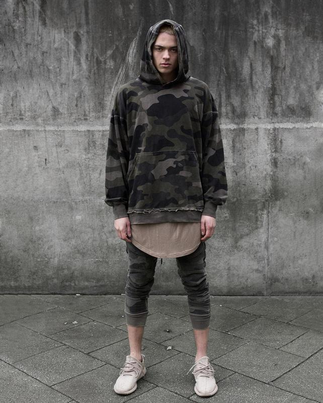 youtube korean oversized streetwear hoodie mens fashion urban clothing  kanye harajuku camouflage pullover hoodies men b9981d3d8