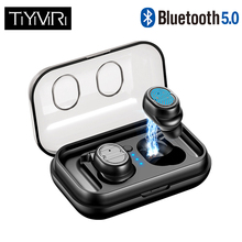 Touch Control Mini Wireless Earbuds Stereo Earphone Waterproof Bluetooth Handsfree 5.0 Headphone with Charging Box for iPhone
