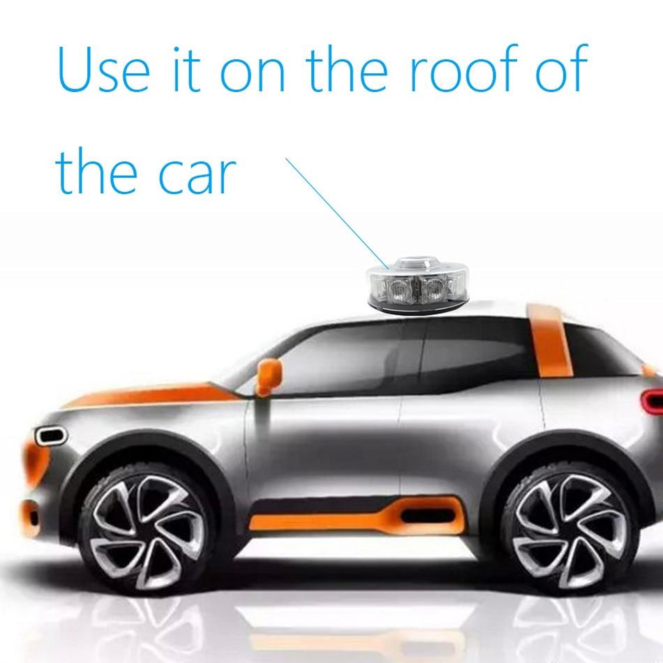 10 LEDs Super Bright 30W Atap Mobil Peringatan Cahaya Dome Flashing - Lampu mobil - Foto 2