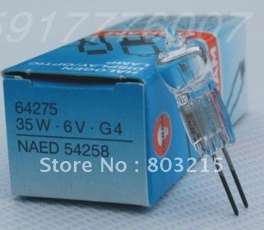 OSRAM 64275 35W 6V G4 HALOGEN DISPLAY/OPTIC LAMP 6V 35W G4 DHL FREE SHIPPING