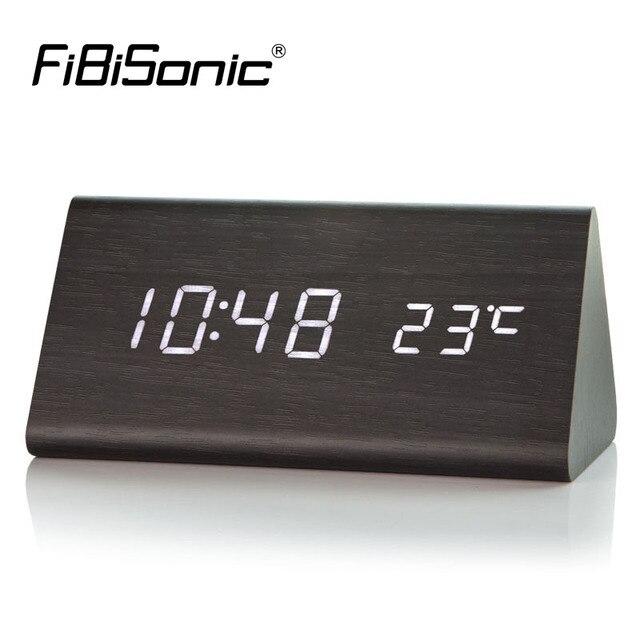 fa9b54a0b50 FiBiSonic Madeira Relógios de LED