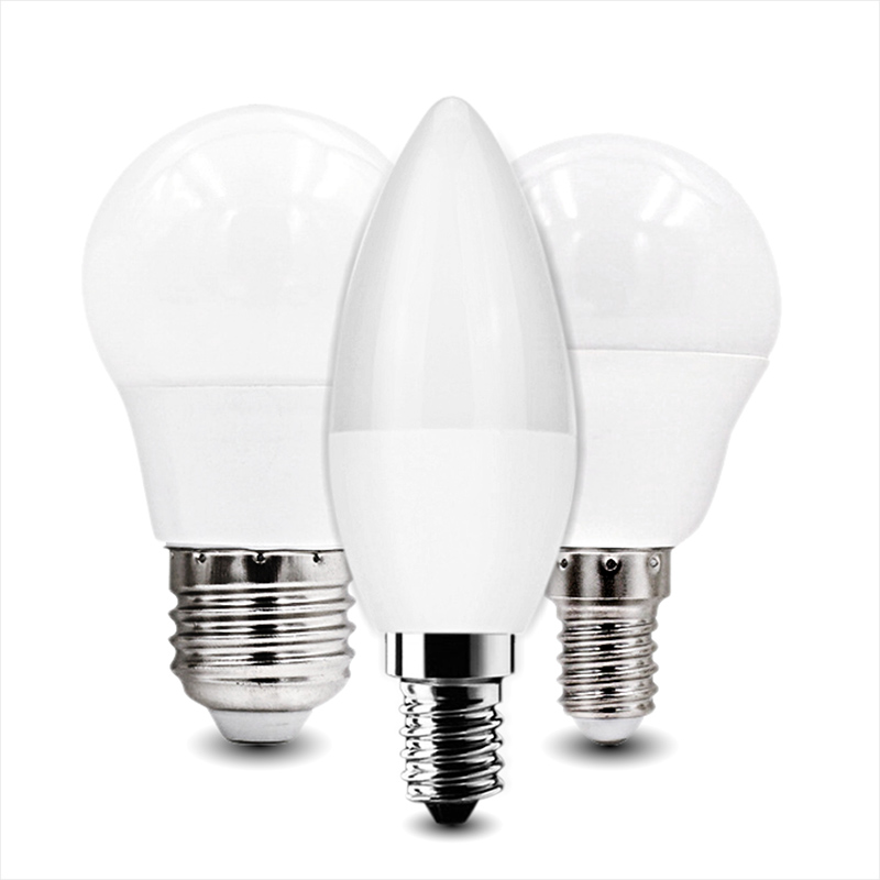 6pcs LED Bulb E27 E14 3W 5W 7W 9W 12W 15W 18W AC220V-240V Real Power Smart IC LED Lampada Bombilla Ampoule Cold White Warm White