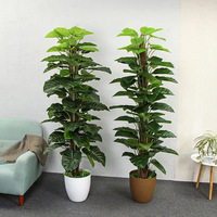 artificial plants 150cm dripping Guanyin greenery hotel home decoration artificial bonsai plastic fake trees faux plants