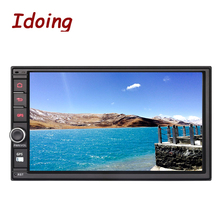 Idoing 2GB RAM Steering-Wheel Car DVD Multimedia Player Universal 2Din Android6.0 GPS Built-in 3G Dangle 1024*600 Radio wifi TV