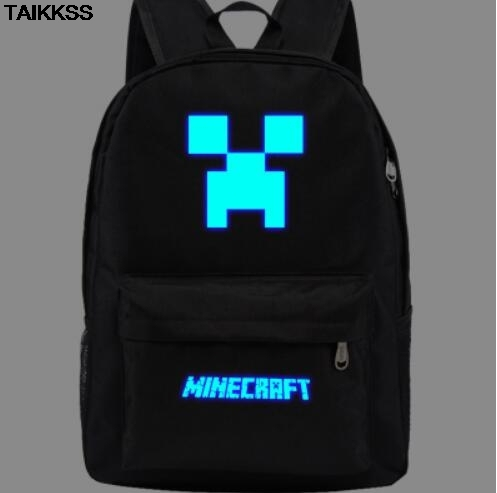 684e3db8ff New Minecraft Backpack Royal Oxford Minecraft Glowing School Bag model  minecraft creeper backpack for unisex GAME Birthday gift