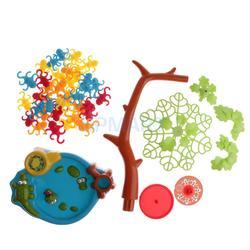 Divertido juego de tablero de plástico para niños, mono, árbol, juego de equilibrio con monos colgando de un árbol