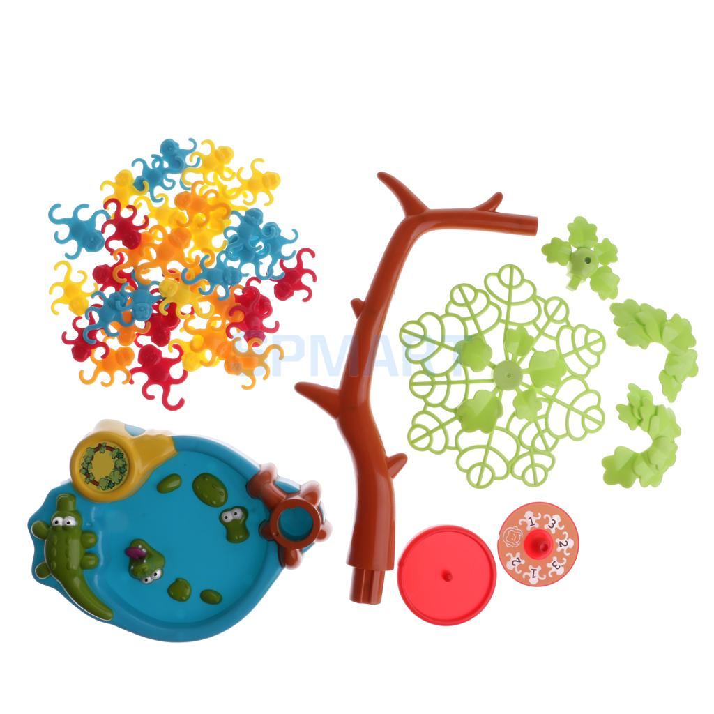 Kids Plastic Family Fun Toys Funny Board Game Monkey Tree Game - A Balancing Game with Monkeys Hanging in a Tree ...