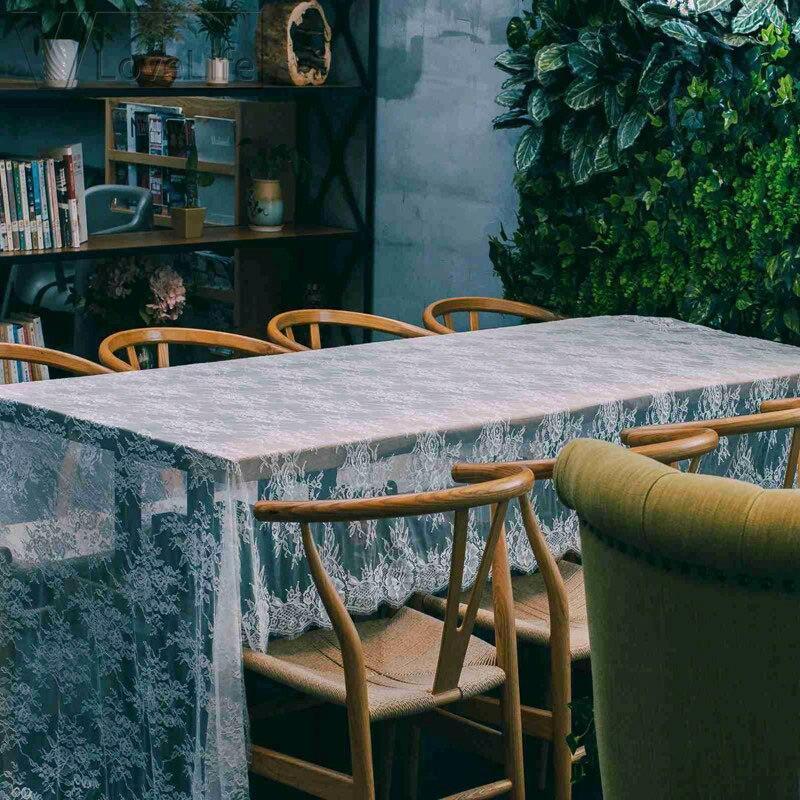 150x300 Cm Bruiloft Tafelloper Wit Kant Tafelloper Bloemen Tafelkleed Boho Bruiloft Tafel Decoratie Thuis Textiel Ideaal Cadeau Voor Alle Gelegenheden
