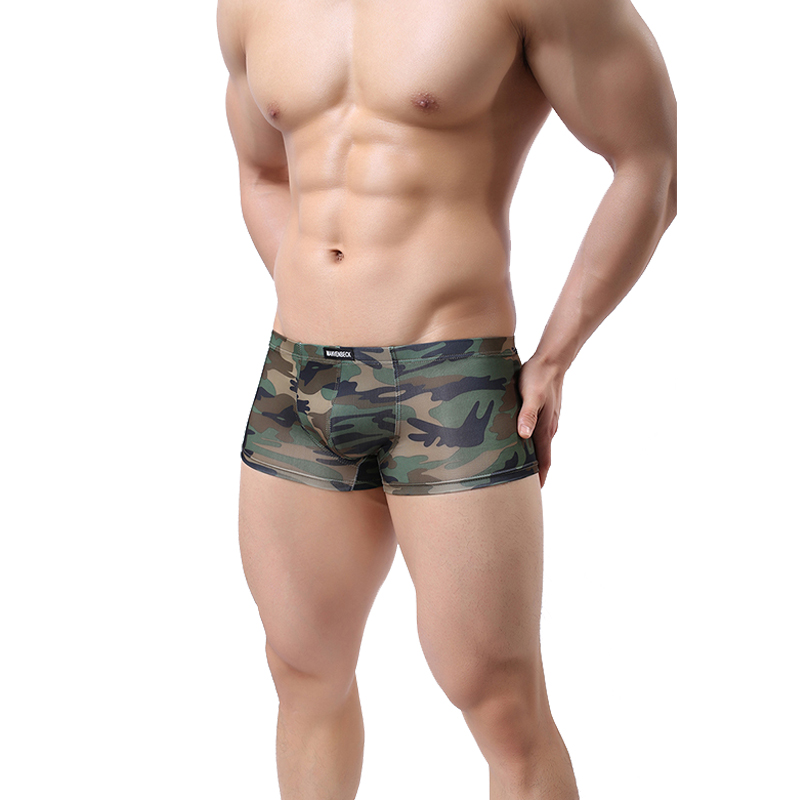 Man Military Style Underwear Slim Underpants Boxers Sexy Men's Camouflage Color Breathable Soft Shorts