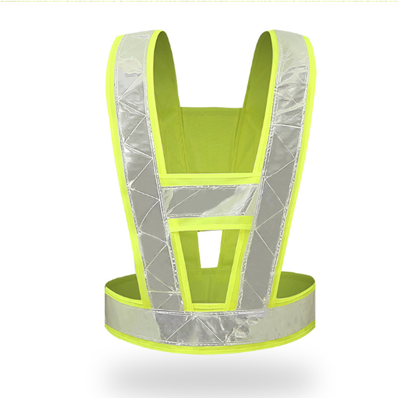 Low Price V-Type Reflective Vest Unisex High Visivility Outdoor Safety Vest Men Running Cycling Sports Work Clothes Self Defense