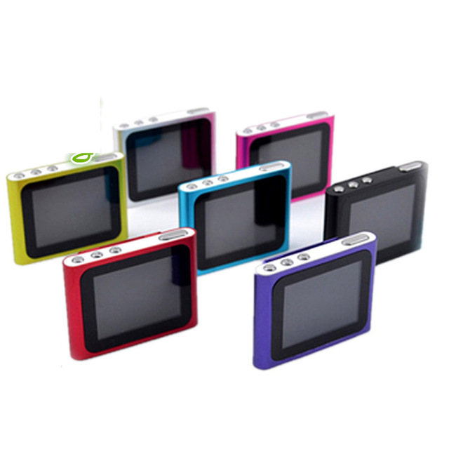 Hot 6th Gen 1.8 Inch screen Clip FM Radio Mp4 Player Support 4/8/16/32GB Micro SD/TF Including Headphone And Mini USB Cable