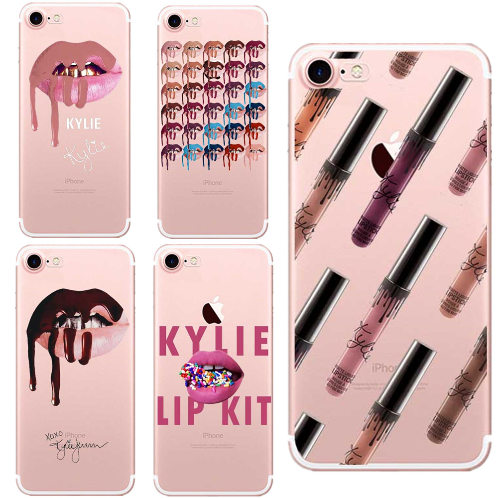 Phone Cases Sexy Girl Kylie Jenner Lips Kiss Clear Soft -8910