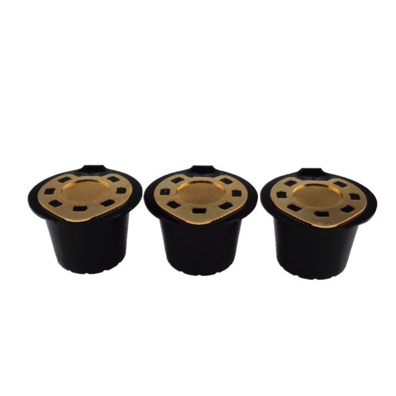 Creative Silver Refillable Reusable Coffee Capsule Filter Compatible Nespresso Soft Capsules Baskets New