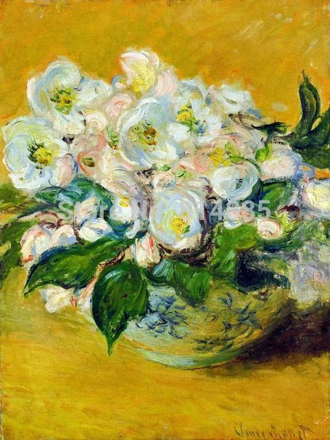 Christmas Roses by Claude Monet Top Quality 100% Handmade Oil ...