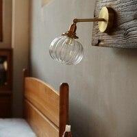 Стекло мяч Wandlamp светодиодный бра, настенные светильники Спальня лампа арматура светильника для зеркала Лофт Декор промышленных лампы в ска