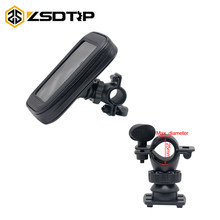ZSDTRP Bike Bicycle Motorcycle Holder with Waterproof Case Bag Handlebar Mount phone Holders Stand For iPhone 6/7/8 Plus(China)