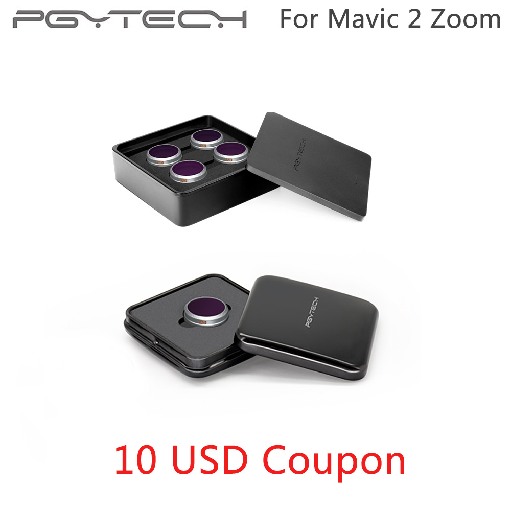 PGYTECH Mavic 2 Zoom UV CPL ND4 ND64 Filter Advanced Camera Lens Filters Kit ND Set Filter For DJI Mavic 2 Zoom ND 8 16 32 64 PL