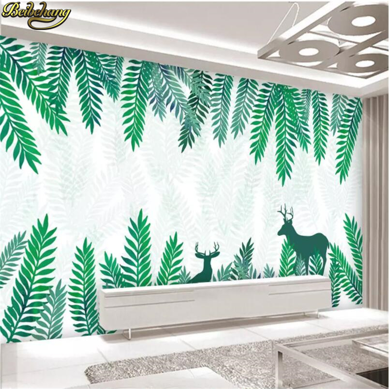 beibehang Nordic forest Photo Wallpaper 3D Landscape Mural Living Room Bedroom TV Sofa Backdrop Wall paper Covering home decor