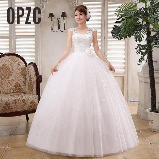 Real Photo Customizd New Korean Style Wedding Dress White Princess