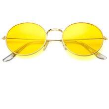 2019 new round frame sunglasses fashion colorful ocean glasses retro womens brand design metal Oculos de