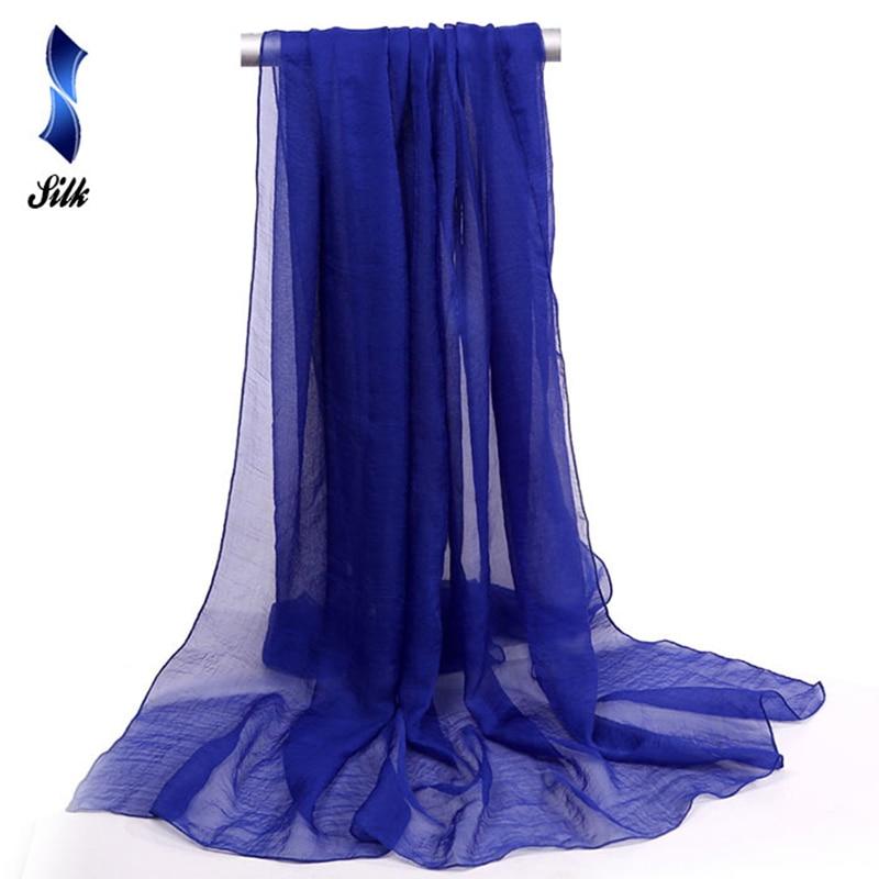 150*90cm solid blue women plain bubble chiffon   scarf   hijab   wrap   printe solid shawls beach outdoor big silk   scarves   shawls female