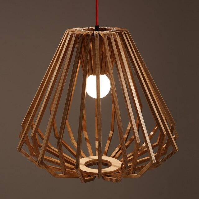 Diamant Form Holz Anhänger Licht Moderne Einfache Kreative Holz Lichter  Wohnzimmer Restaurant Bar Büro Schlafzimmer Lampen