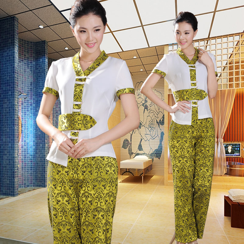 10sets free ship clothes spa chinese style thai overalls for Uniform thai spa
