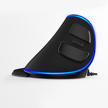 Delux M618 Plus Computer RGB Wired Vertical Mouse Ergonomic USB 4000 DPI Optical  Healthy Wireless Mice
