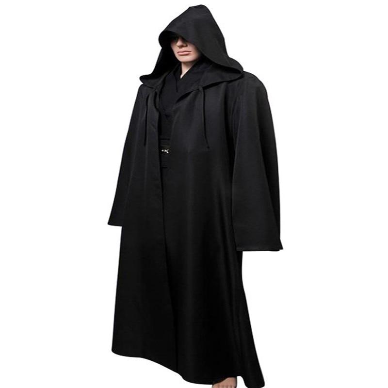 Ainiel Star Wars Anakin Skywalker Cosplay Costume Halloween Costume Outfit Robe Tunic Belt Pants  Black Version  Full Set