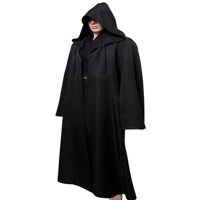ainiel star wars anakin skywalker cosplay costume halloween costume outfit robe tunic belt pants black version