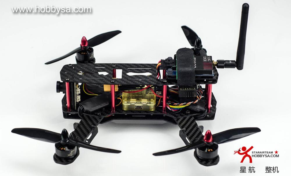 H250 Carbon Fiber FPV Race RC Quadcopter Frame Kit with (2300KV Motor+ 12AESC+5030 Propeller) rc plane 210 mm carbon fiber mini quadcopter frame f3 flight controller 2206 1900kv motor 4050 prop rc