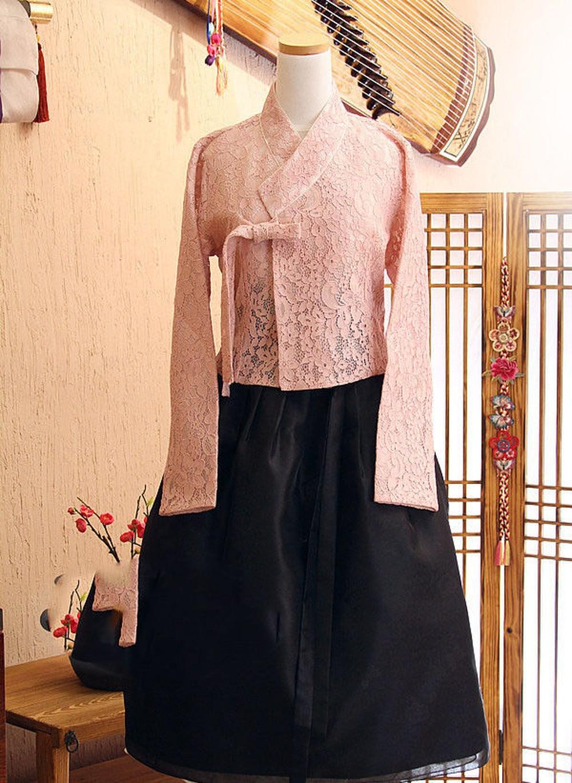 Modernized Lace Hanbok Fushion Hanbok Korean Traditional Hanbok Dress Women